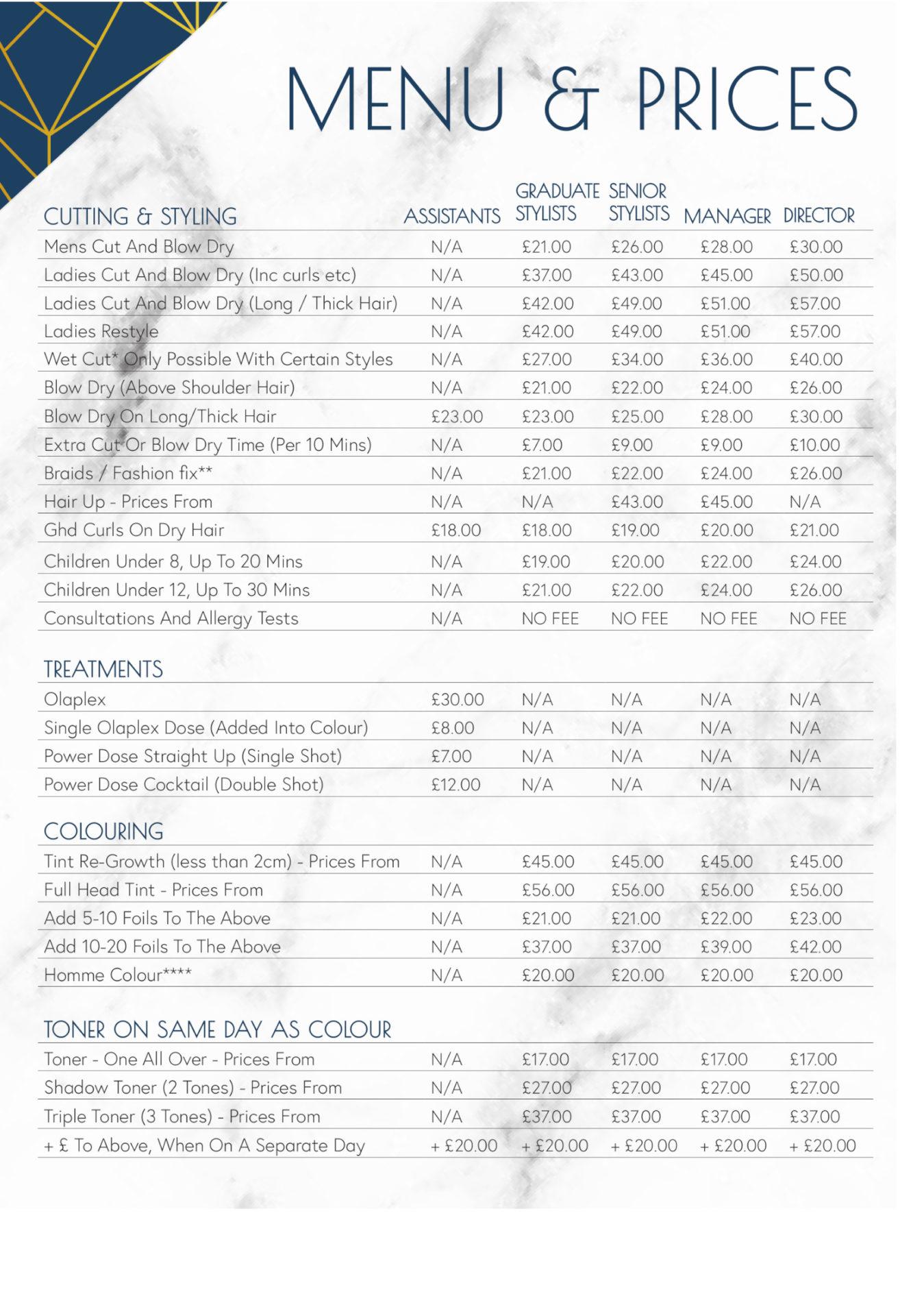 price list Oct20 p1