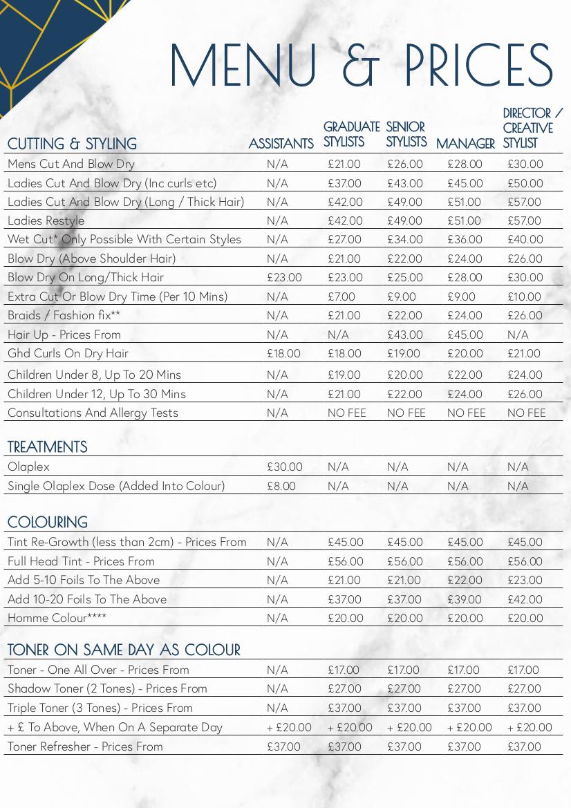 price list aug21 1